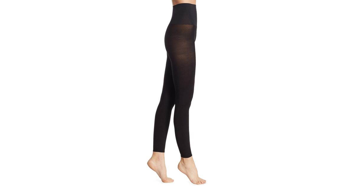 f899036d943fe Commando Ultimate Opaque Matte Footless Tights in Black - Lyst