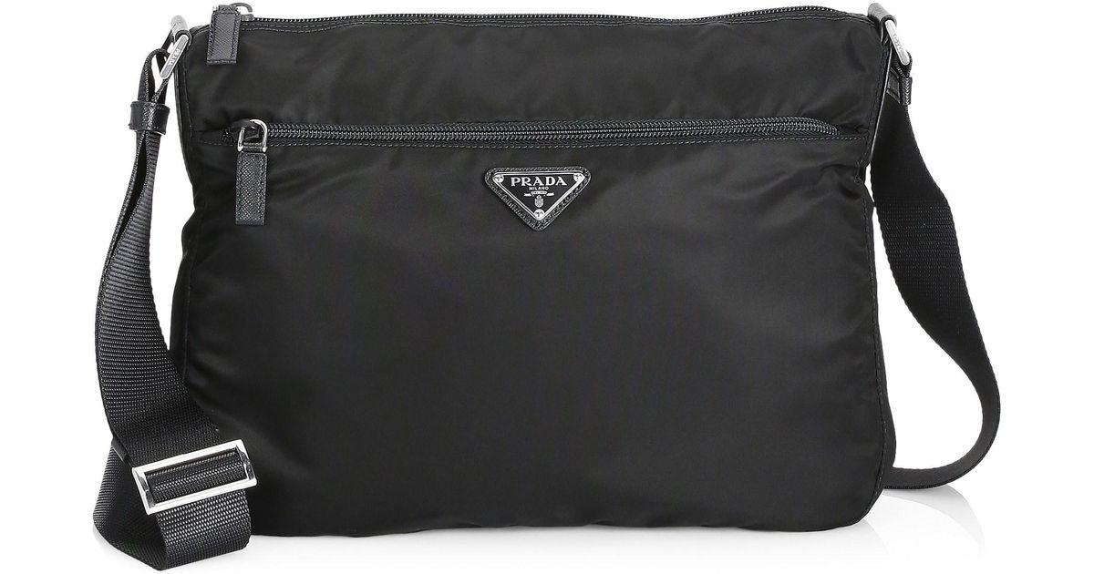 f493ccf3b7e95 Lyst - Prada Women s Large Nylon Crossbody Bag - Black in Black
