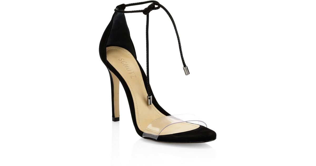 797cadc4a65c Schutz Josseana Ankle Strap Sandals in Black - Lyst