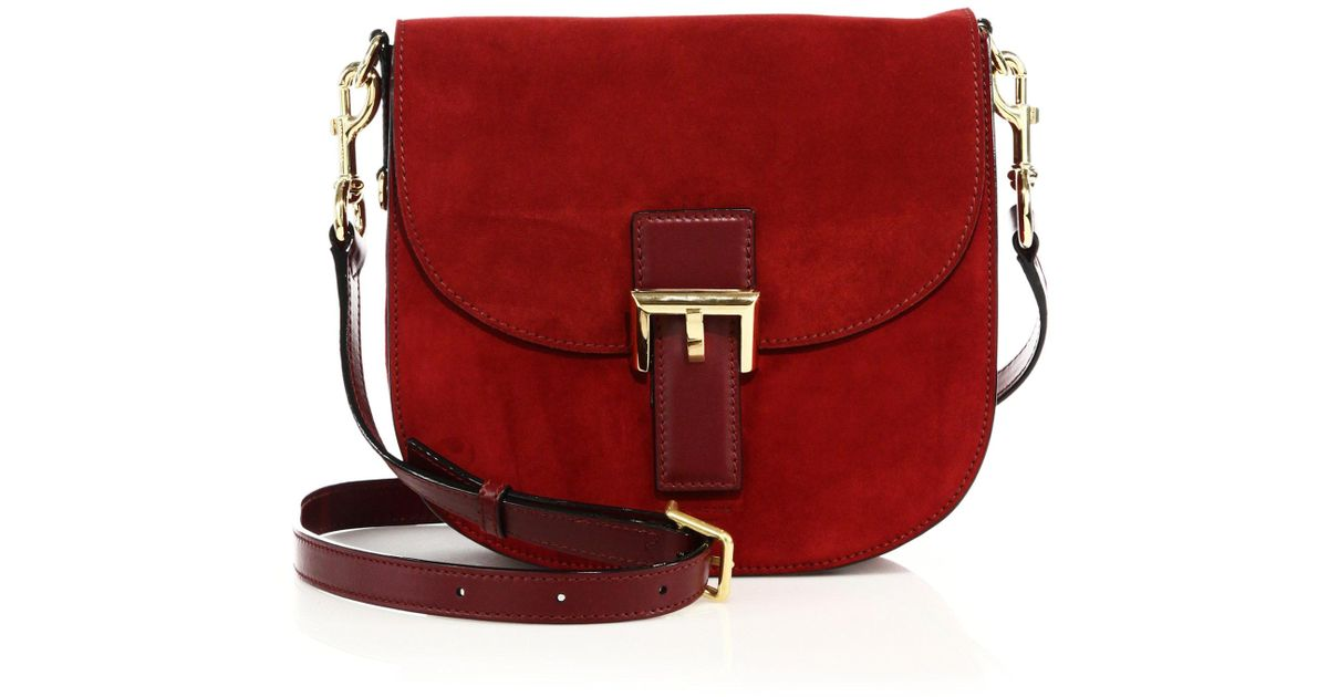 6352d3a10 Lyst - Marc Jacobs Ns Decoy Suede Crossbody Bag in Red