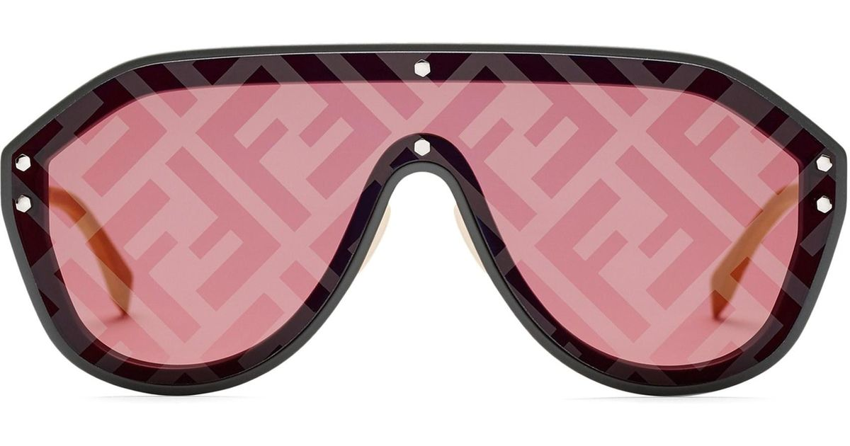 c74b569967514 Fendi 99mm Shield Sunglasses - Lyst