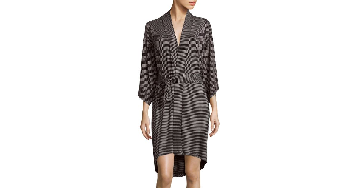 Maison du soir florence knit robe in black lyst for B b maison florence