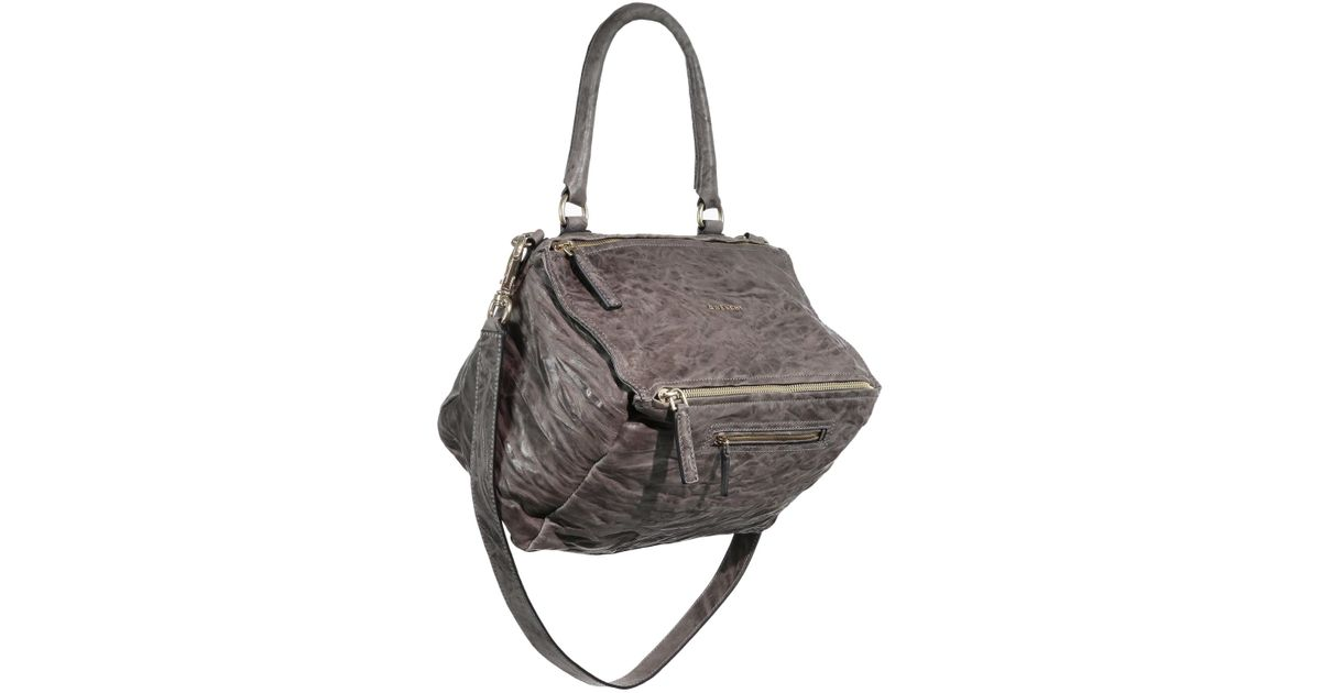 Lyst - Givenchy Pandora Medium Pepe Leather Shoulder Bag in Gray 3ea9bb5110a95