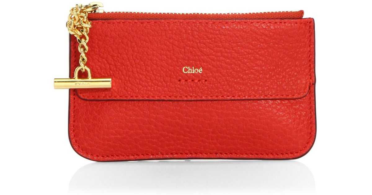 lyst chlo drew leather card holder in red - Chloe Card Holder