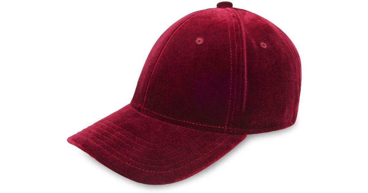 91c8dc7faa7 Lyst - Gents Men s Executive Velvet Baseball Cap - Red in Red for Men