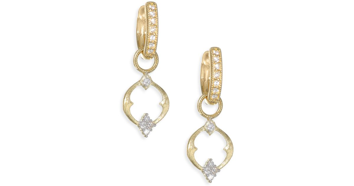 Jude Frances 18K Clover Diamond Earring Charms RTsLM6B