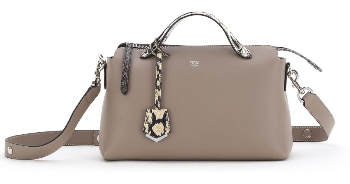 Lyst - Fendi By The Way Small Shoulder Bag in Natural 86f0121f88724