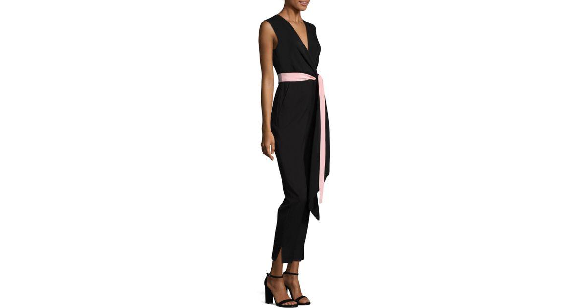 f4feb1fd175 Lyst - ROKSANDA Rokuro Silk Jumpsuit in Black