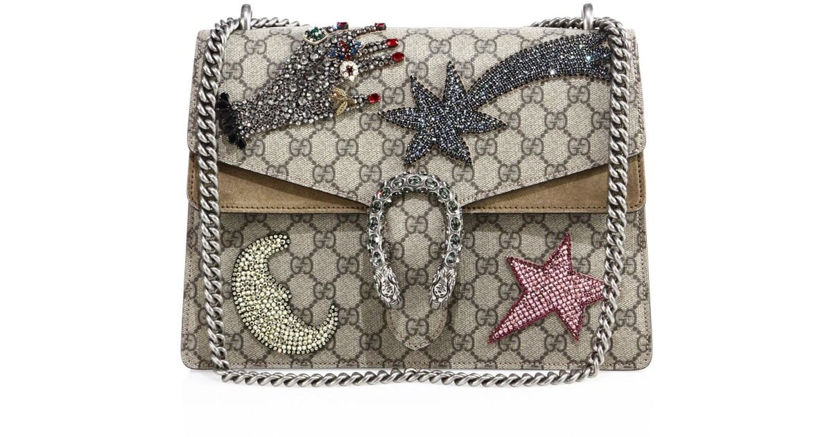 b19c53a74983d7 Gucci Dionysus Medium Gg Supreme Sequin-embroidered Shooting Star Bag in  Natural - Lyst