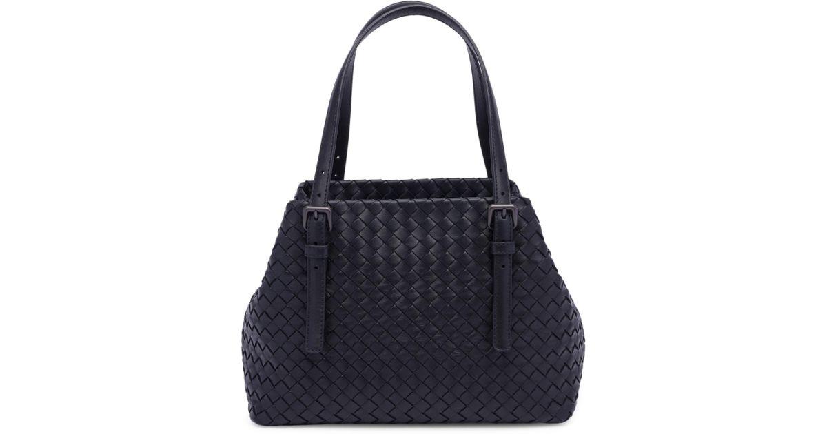 2d81e4190775 Lyst - Bottega Veneta Basket-weave Tote in Black