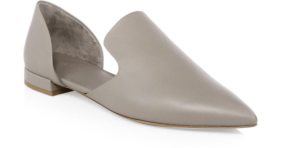 Vince Damris Leather Flat Mules fa8VWma5e