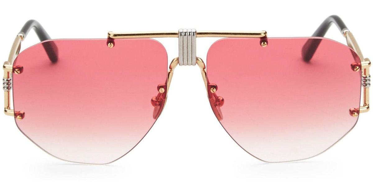 b3aa69561 Céline 59mm Aviator Sunglasses in Pink - Lyst