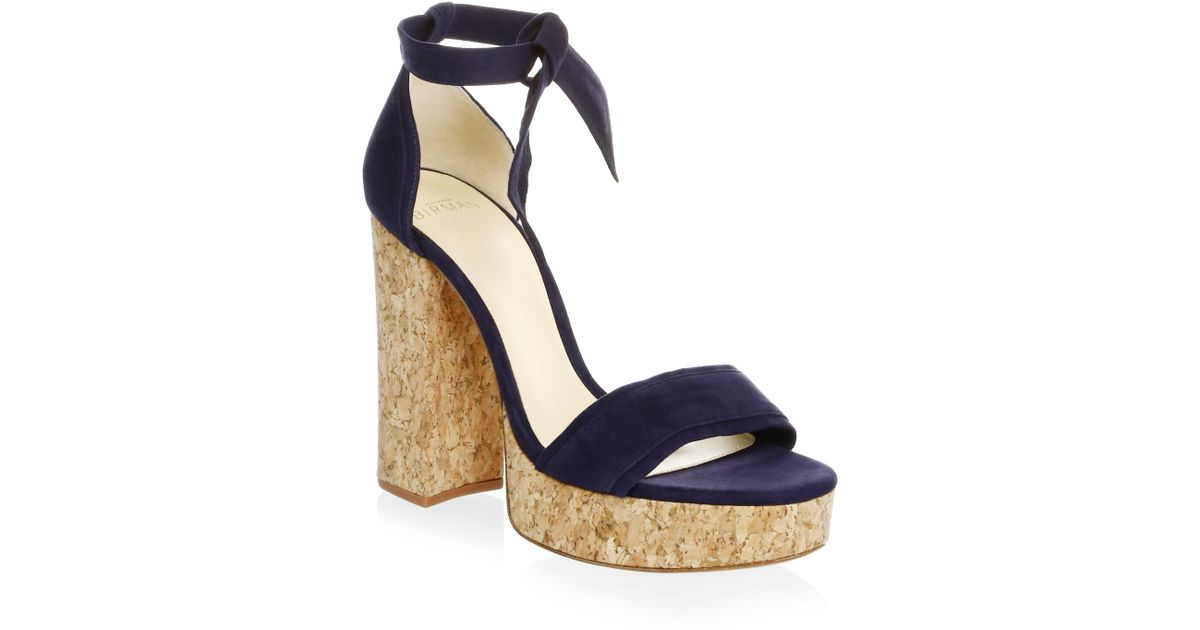 fb8c0056eaf Lyst - Alexandre Birman Celine Suede Platform Sandals in Blue