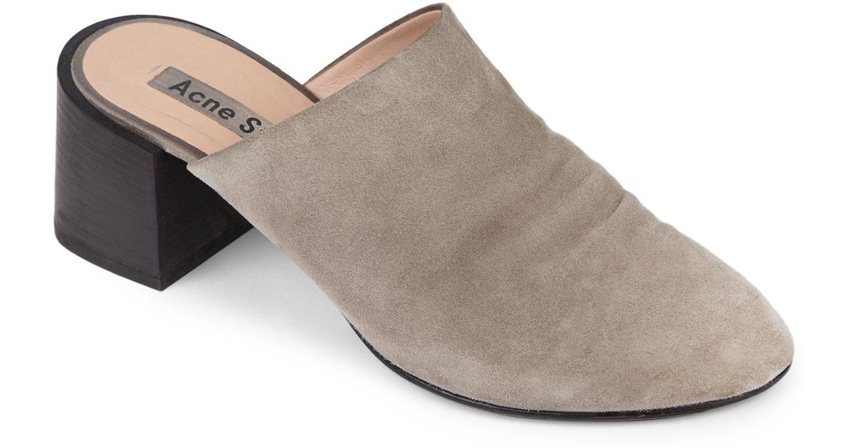 Acne Textured Suede Mules I7AtN0qn