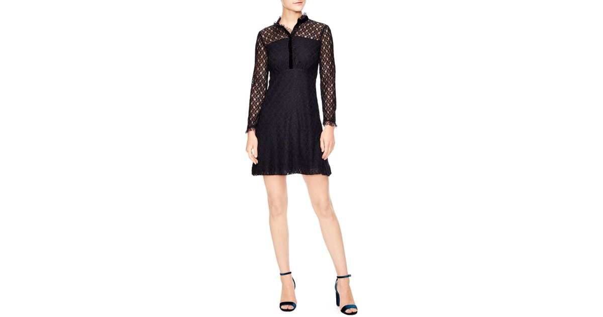60190964cb0 Sandro British Mashup Vegetale A-line Lace Dress - Lyst