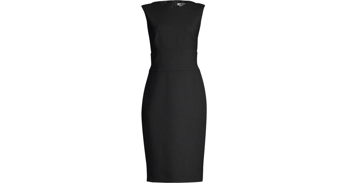 2819cf9d3c7 Lyst - Max Mara Sleeveless Sheath Dress in Black