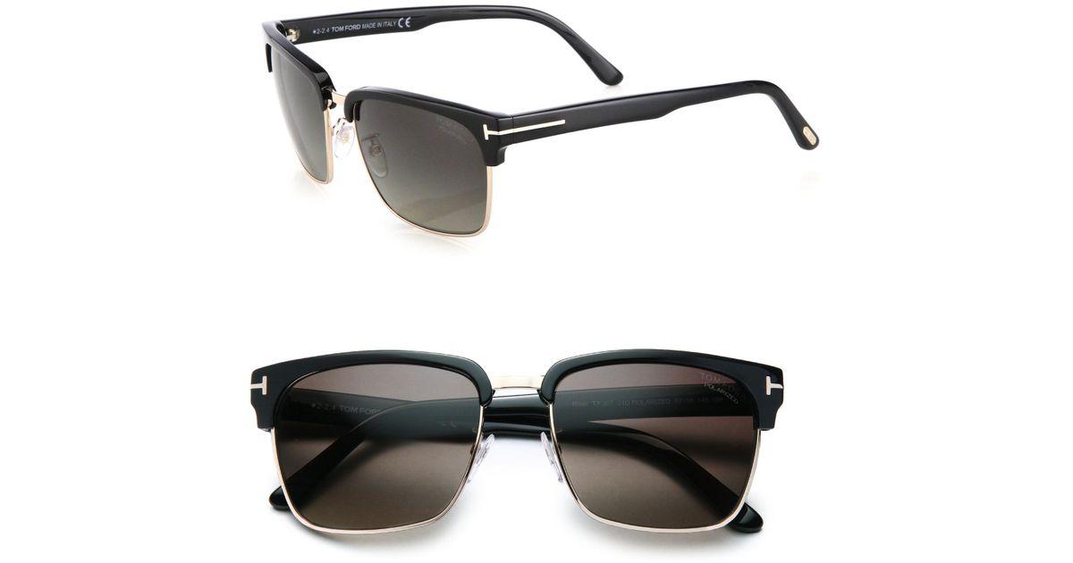 6163fd56fd3 Tom Ford River 57mm Square Sunglasses in Black for Men - Lyst