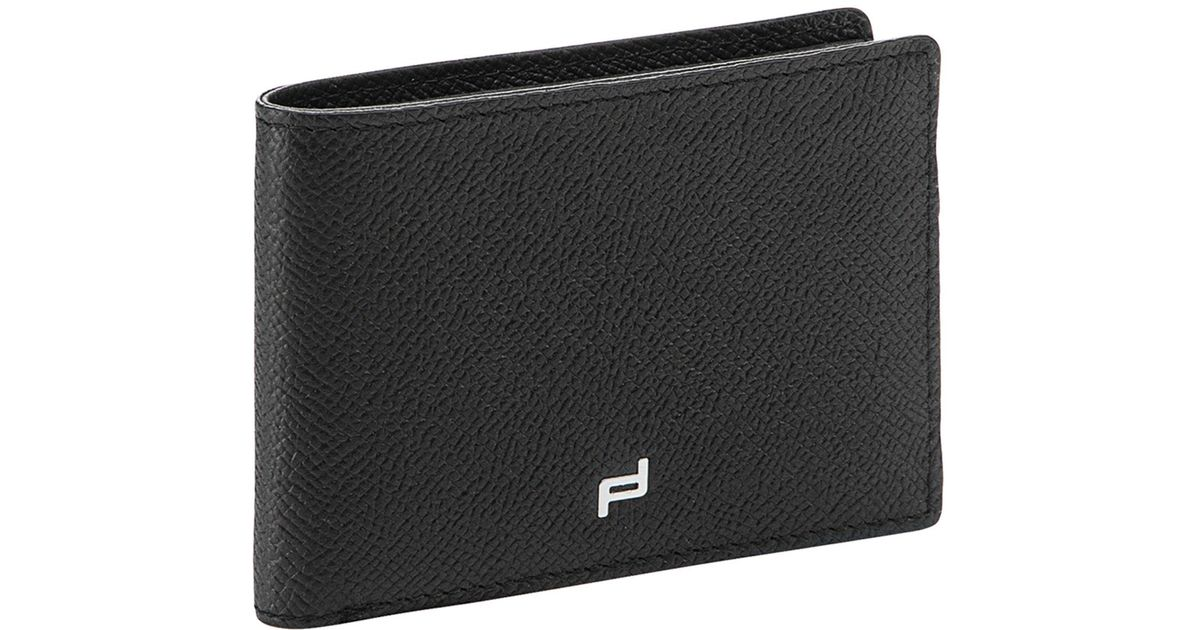 Lyst Porsche Design French Classic 3 0 Leather H Wallet In Black For Men