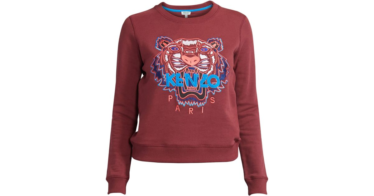 64e189a4ba Lyst - KENZO Slim-fit Classic Tiger Cotton Sweatshirt in Red