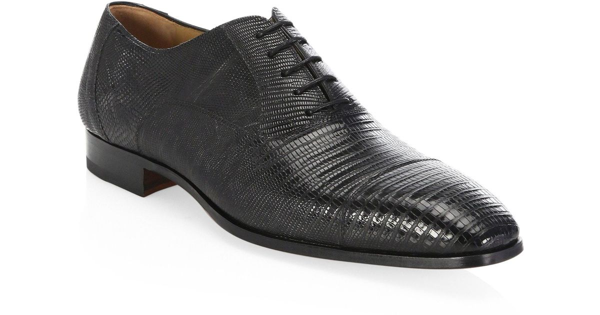 Saks Fifth Avenue COLLECTION BY MAGNANNI Leather Cap Toe Shoes IqLim2YiH