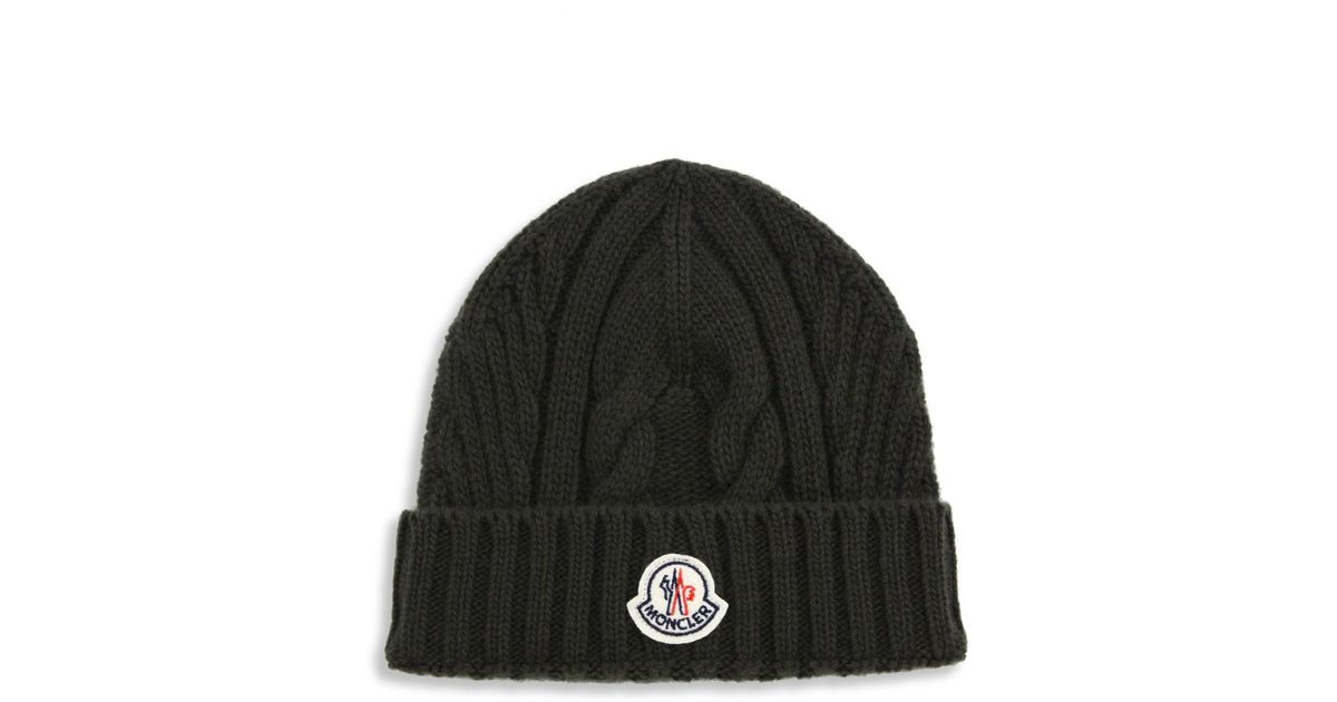 d4713fa01f6 Lyst - Moncler Virgin Wool Beanie in Green