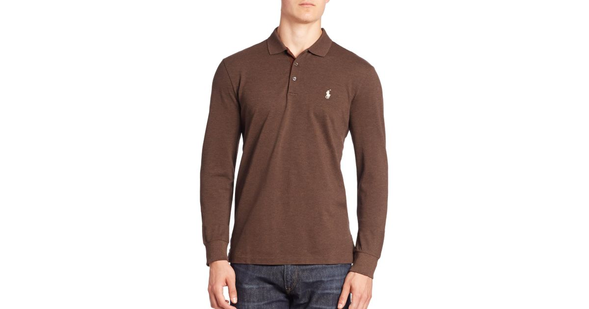 Lyst Polo Ralph Lauren Long Sleeve Cotton Polo Shirt In