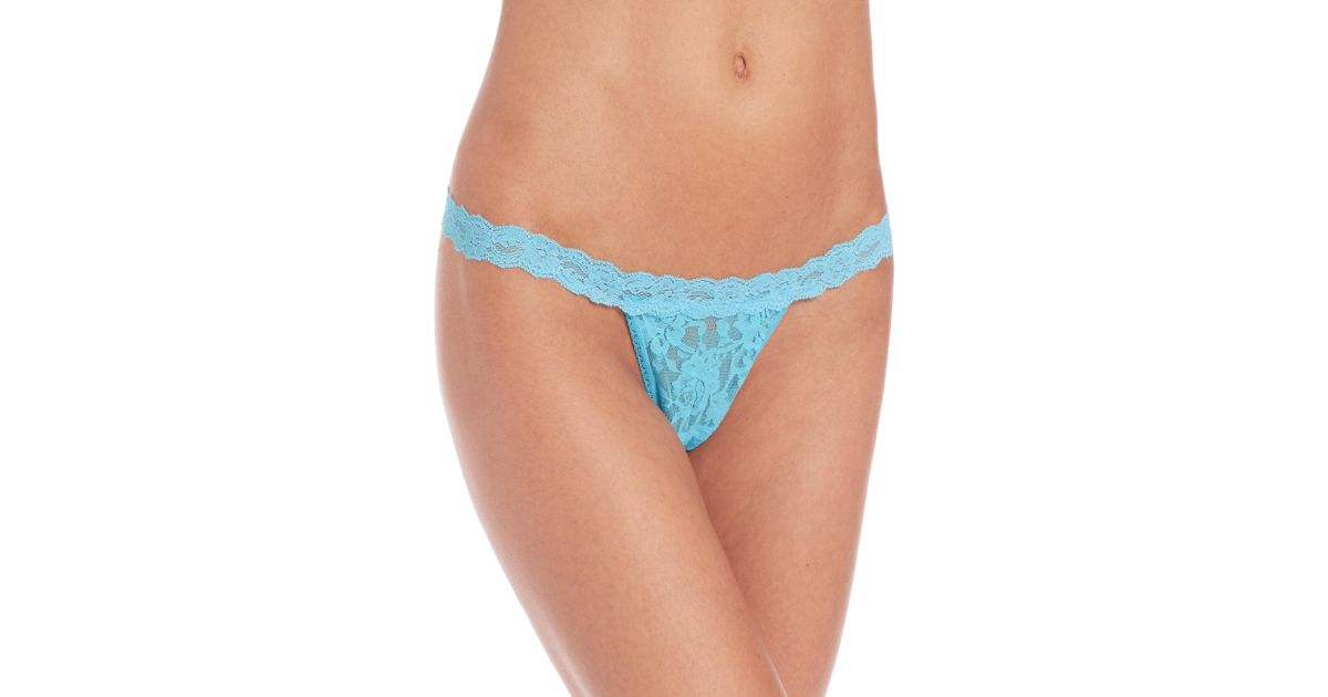 9528b5518 Hanky Panky Signature Lace G-string in Blue - Lyst