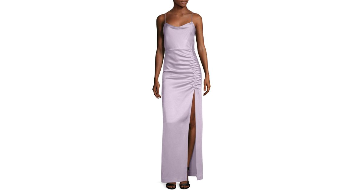 Outlet Discount Sale Diana Sleeveless Cowl-Neck High-Slit Column Gown Alice & Olivia Clearance Online Amazon Free Shipping Top Quality Best Sale For Sale Cost Cheap Price W5uPvaX