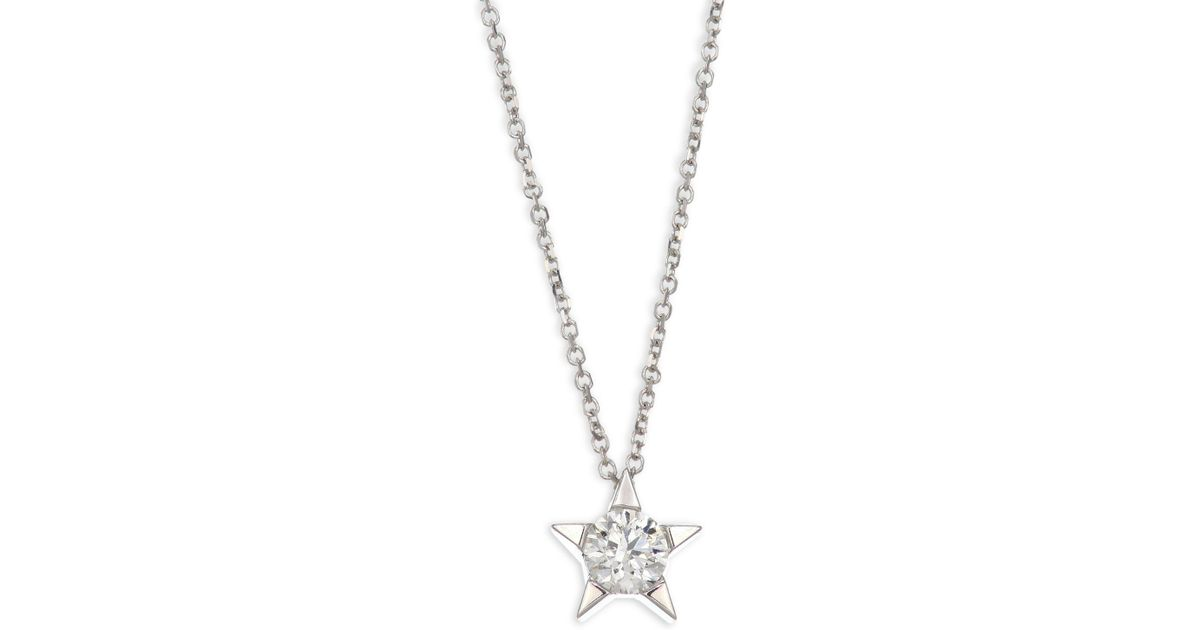 Lyst hearts on fire illa star diamond solitaire pendant necklace aloadofball Image collections