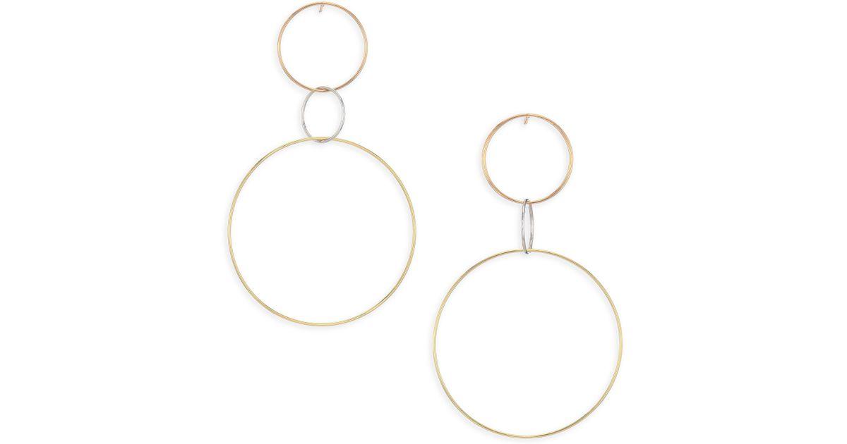 Lana Jewelry 14k Triple Hoop Dangle Earrings RdTKe7h