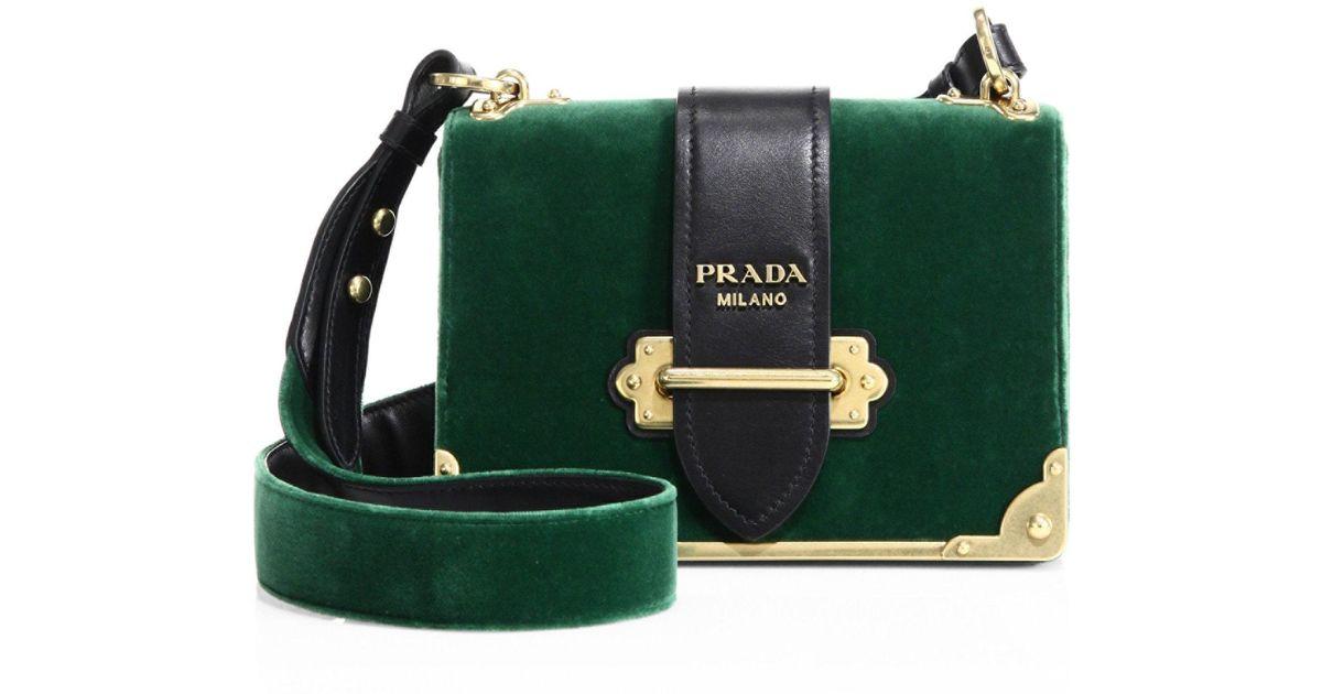 Prada Cahier Bag Green