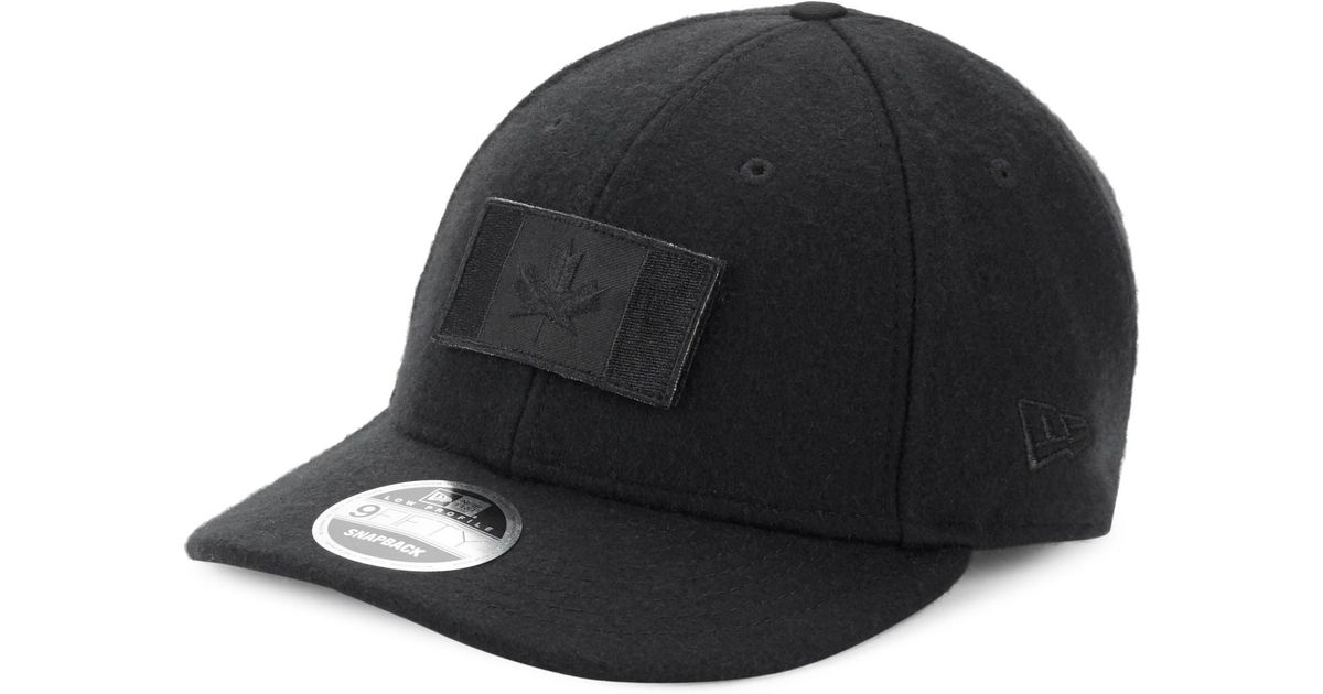5a86b1a0a7a Canada Goose Melton Wool Baseball Hat in Black for Men - Lyst