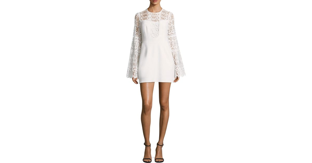 bb2dda4fca09 Nanette Lepore Spanish Dancer Crepe And Lace Dress in White - Save 67% -  Lyst