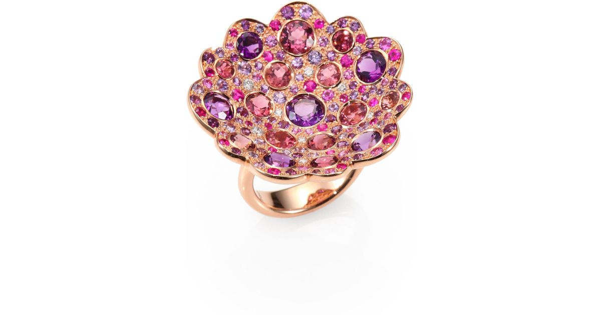 Lyst Roberto coin Fantasia Semi precious Multi stone Diamond