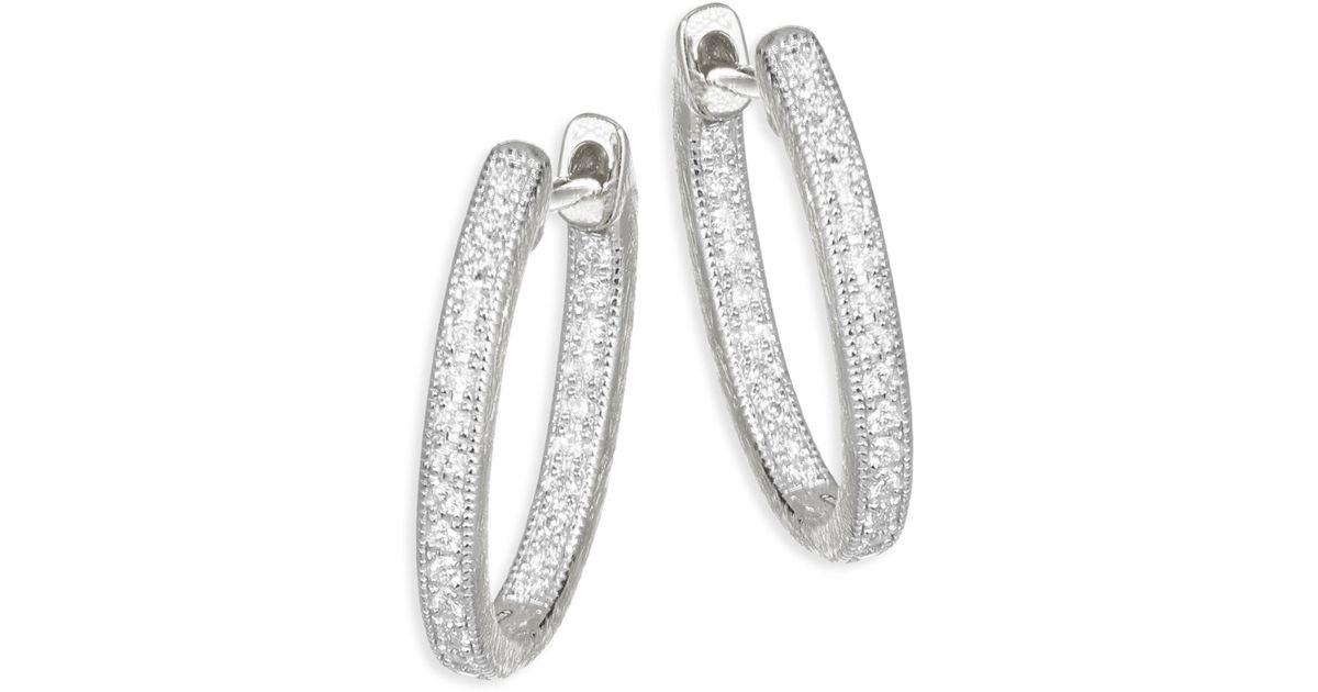Jude Frances Lisse Small 18K Gold Hoop Earrings w/ Diamonds zPXHK4n