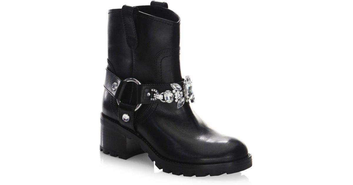 outlet popular cheap tumblr Marc Jacobs Square-Toe Leather Booties supply for sale looking for x9htHY