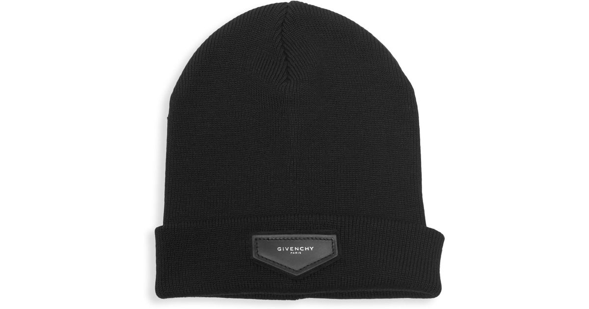 617039f20e1 Lyst - Givenchy Wool   Cashmere Logo Toque in Black for Men