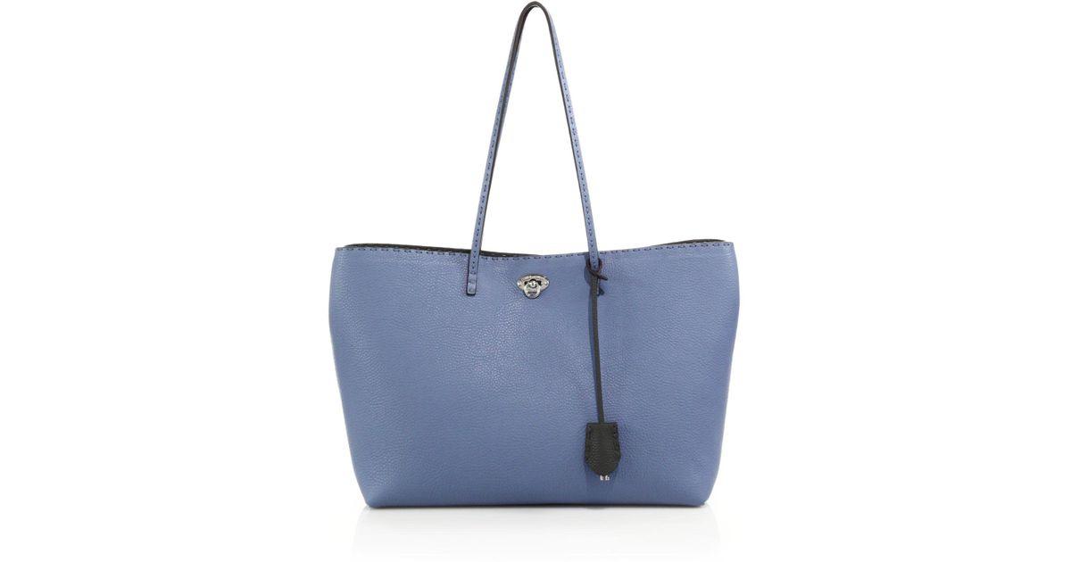 a18f8cc03977 Lyst - Fendi Carla Selleria Tote in Blue