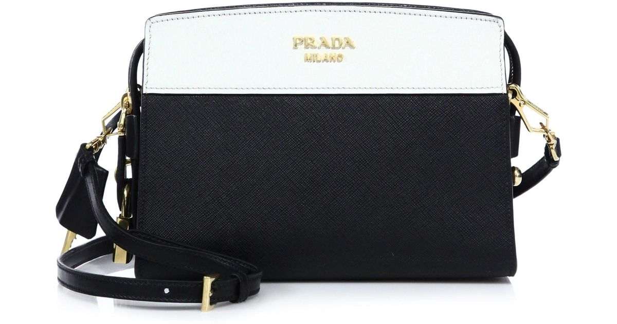 3357ed7102106e Prada Esplanade Leather Shoulder Bag in White - Lyst