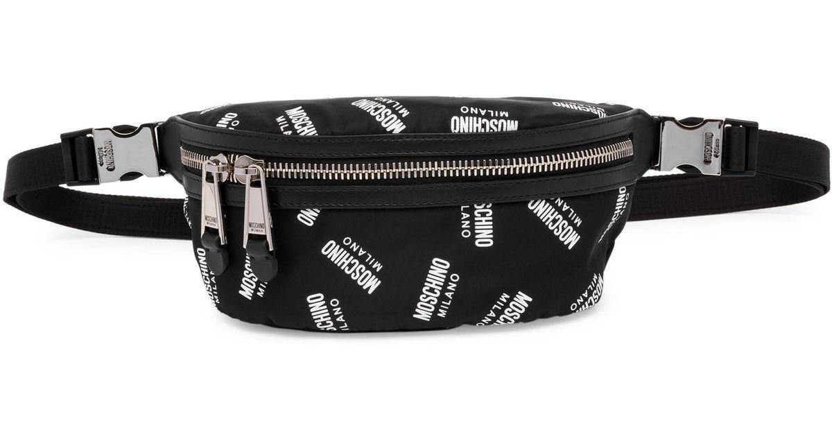 ed589bbf3 Moschino Logo Bum Bag in Black - Save 25% - Lyst