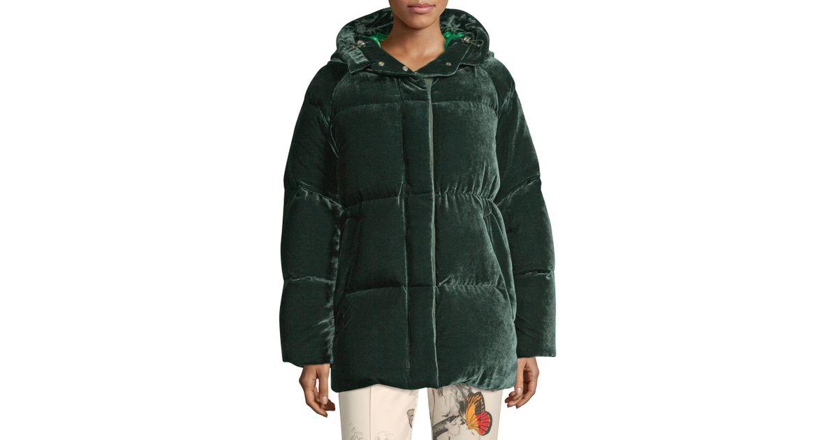 49f005c850f8 Moncler Butor Velvet Down Jacket in Green - Save 18% - Lyst