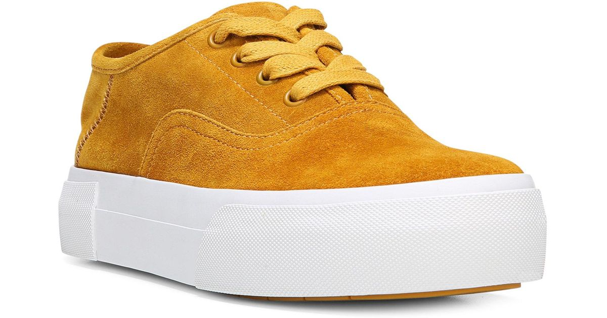 ab9c3421eb7e Lyst - Vince Copley Leather Platform Sneakers in Yellow