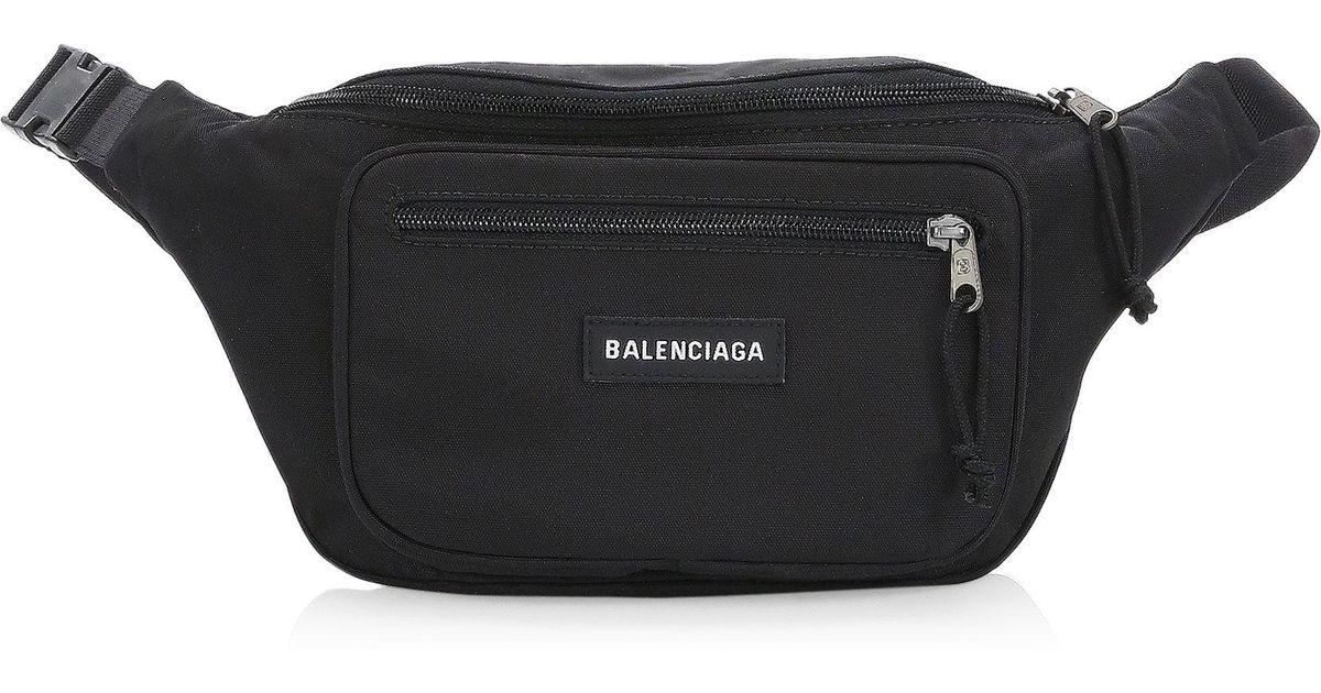 6549274a0d5 Balenciaga Explorer Belt Bag in Black for Men - Lyst