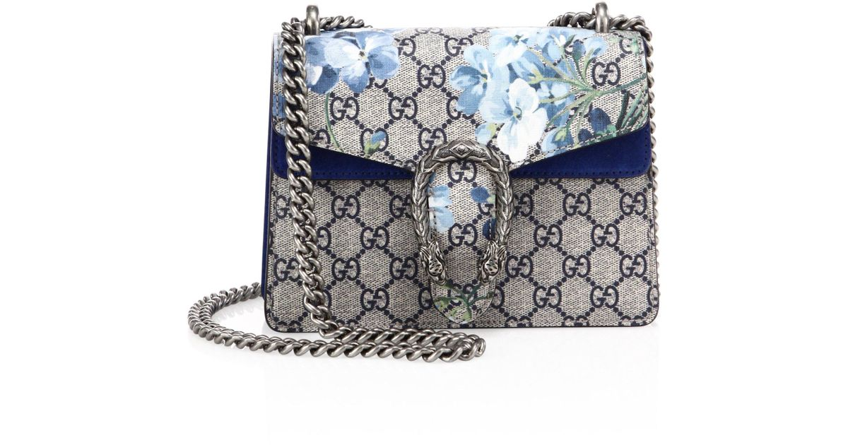 7ab7acc15a0 Gucci Dionysus Blooms Mini Shoulder Bag in Metallic - Lyst