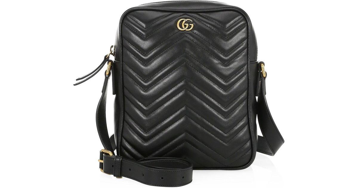 d54414b1fd0a4f Gucci Men's GG Marmont Leather Shoulder Bag - Nero in Black for Men - Lyst