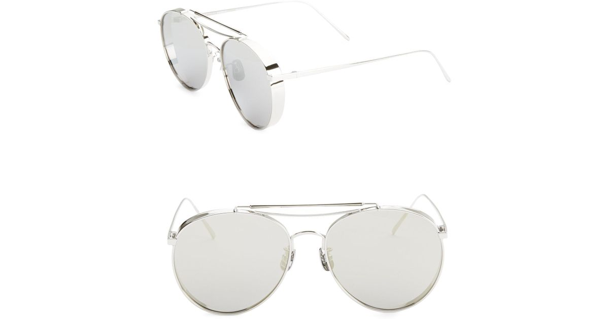 9c3970153147 Lyst - Gentle Monster 56mm Big Bully Aviator Sunglasses in Gray