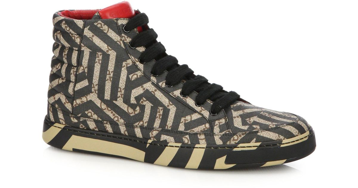 01b98c066ed Lyst - Gucci Gg Caleido High-top Sneakers for Men