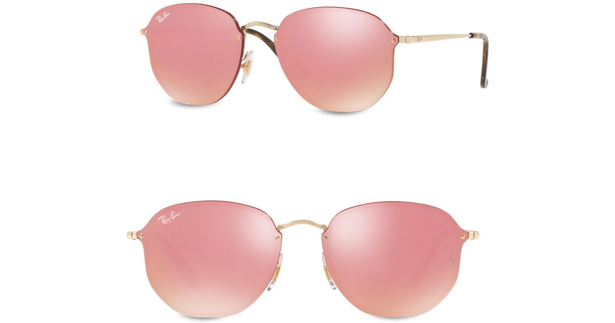 98e26396d27c3 Lyst - Ray-Ban Round Sunglasses in Pink