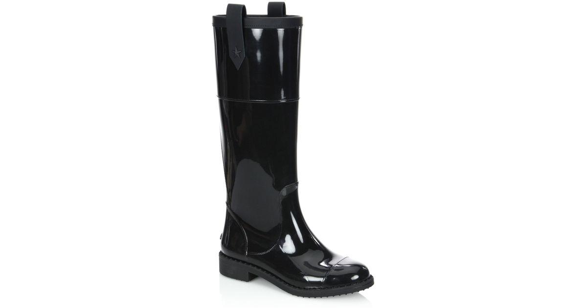 6a92bffb24 Jimmy Choo Edith Tpz Rain Boots in Black - Lyst