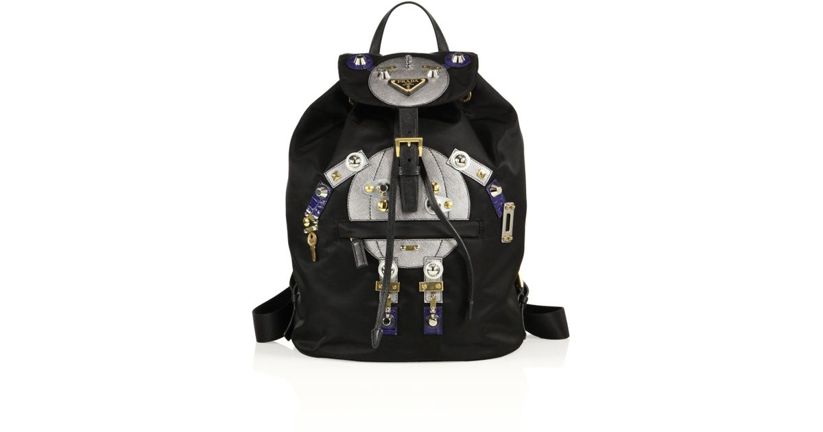f75a2e264b7f65 Prada Tessuto Big Robot Nylon Backpack in Black - Lyst
